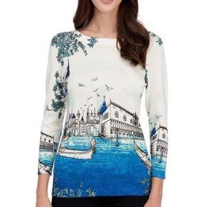 Joseph A. Sweater gondola Venice print